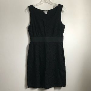 H&M fitted lace black dress size 6